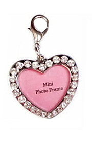 Cute Multi-Functional Pets ID Tag with Heart Shape Pendant Charm for Dogs and Cats