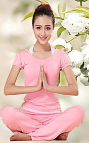 Women's Yoga Suits Short Sleeve Breathable Yoga / Fitness (3pcs)