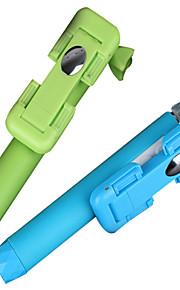 super mini udvides kablede monopod selfie stick til alle mobiltelefoner farverige monopod størrelse: 17x5x3.5cm
