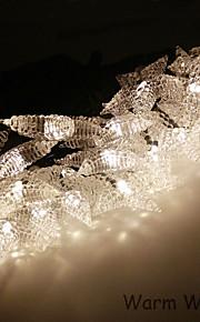 solar streng 6.5m 30led lys blingbling stjerne form streng lys vanntett utelamper