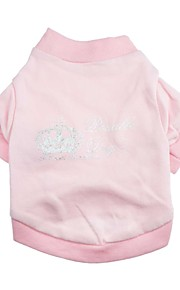Gatos / Perros Camiseta Rosado Primavera/Otoño Tiaras y Coronas Moda, Dog Clothes / Dog Clothing-Other