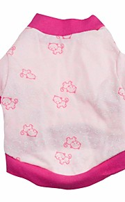 Gatos / Perros Camiseta Rosado Primavera/Otoño Animal Moda, Dog Clothes / Dog Clothing-Other