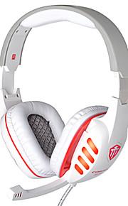 cd-619 hifi gioco cablata cuffie con microfono in linea&rumore orecchio controllo del volume che annulla bassi auricolari Surround