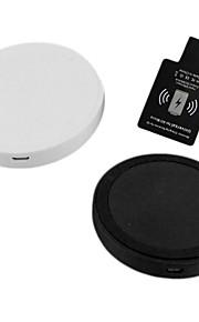chargeur sans fil i-wc-wc1-sam fixé pour appareils mobiles / 5/6 de HTC et d'autres samsung (noir / blanc)