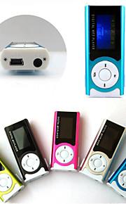 8G Mini  Slim Clip USB MP3 Music Media Player LCD Screen