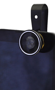 New Universal Clip 3 in 1 Fish Eye Wide Angle Macro Fisheye Mobile Phone Lens(Assorted Colors)