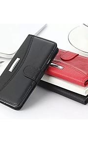 grano affari litchi&cavallo pazzo slot per schede in vera pelle e stand casi portafoglio S5 per i9600 Samsung Galaxy S5