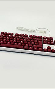 bunte Hintergrundbeleuchtung Lichtspiel wasserdichte mute Notebook Desktop USB verdrahtete Tastatur