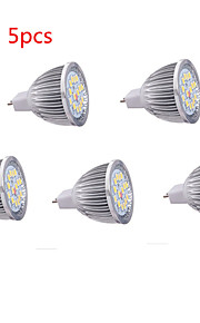 5PCS hry® 8w MR16 16xsmd5630 650lm 따뜻한 / 차가운 백색 빛 전구 스포트 라이트를 주도 (DC12V)