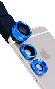 Apexel 3 in 1 Fisheye and Macro Lens & 0.65X Wide Angle with Lens Clip for iPhone 4/5/6/6S/6S Plus(Assorted Colors)