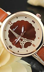 kvinders kvarts slank pu band analog Eiffeltårnet armbåndsur