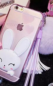 lady®cartoon / personlighed telefon sag / cover til iPhone 6 / 6s (4.7) med silikone materiale, flere farver