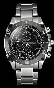 mænds afslappet sølv legering quartz armbåndsur