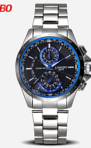 longbo® mærke vogue mænds kvarts ure lysende hænder mode afslappet fuld rustfrit stål ur mandlige