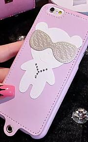 lady®luxurious telefon etui til iPhone 6 plus / 6s plus (5,5 tommer), dekoreret med diamanter og silikone / pu læder meterial