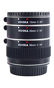 Kooka kk-c68a tubos de extensão af alumínio para Canon EF&(20mm 36mm 12mm) câmeras SLR EF-S