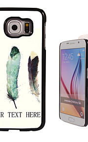 Personalized Case - Three Feather Design Metal Case for Samsung Galaxy S6/ S6 edge/ note 5/ A8 and others