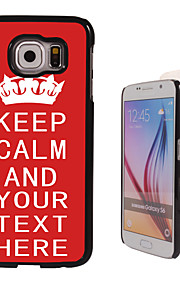 Personalized Case - Red Keep Calm Design Metal Case for Samsung Galaxy S6/ S6 edge/ note 5/ A8 and others