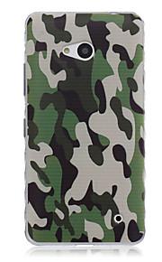kamouflage mönster vågor slip handtag tpu mjuk telefon fallet för Nokia n640
