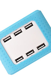 6 Port 20w Universal USB Desktop High Speed Charger with Intelligent Auto Detect Technology