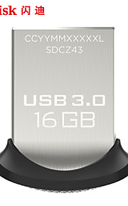 SanDisk u schijf 16gb usb3.0 koele bonen cz43 high-speed mini metalen U schijf U schijf 16gb auto