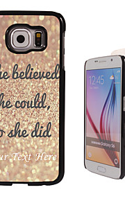 Personalized Case - She Believe Design Metal Case for Samsung Galaxy S6/ S6 edge/ note 5/ A8 and others