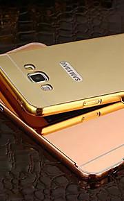 ny plating speil tilbake med metallramme telefon tilfelle for galaksen a5 / A7 / A8 (assorterte farger)