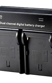 dual digitale batterijlader voor Sony NP-F970 F750 F550 F960 QM91D FM50 FM500H