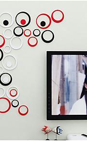 Formas / 3D Wall Stickers Autocolantes 3D para Parede , Wooden 6.5~16cm
