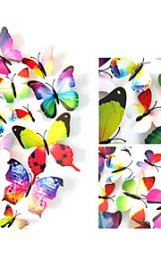 3D Wall Stickers Autocolantes 3D para Parede , PVC 2pcs 12cm /2pcs 9cm/ 4pcs 8cm / 4pcs 4cm