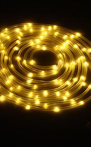 Король ро солнечной 24.6ft 50led свадьба украшение света на открытом воздухе водонепроницаемый огни веревки