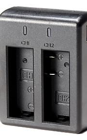 dual batterijlader usb voor sj4000 sj5000 sj6000 actie camera met usb-kabel