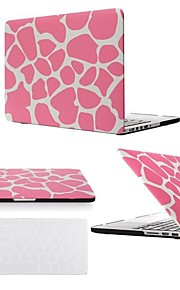 "2 in 1 Pink Leopard Hard Plastic Cover for MacBook Air Pro Retina 11"" /13"" /15""  with Transparent Keyboard Cover"
