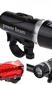 5-LED Bicycle Front Lights + 5-mode Rear/Tail Light Kits
