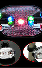 Fashion Cycling Bike Safety Warning Rear Light Bicycle Colorful 9 LED Taillight 7 Modes