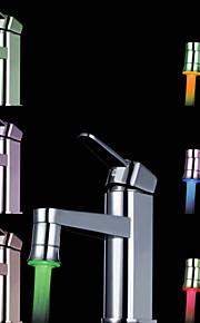 красочные кухня раковина универсальный адаптер привело кран сопла (автоматическое изменение цвета)
