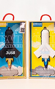 JOYROOM JR-C300 4.1A Triple 3 USB Ports Output Cigarette Lighter Car Charger for Mobile Phone IPad Smartphone Tablet