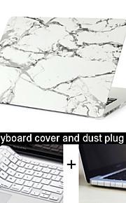 """1 대리석 질감의 케이스 커버 + 키보드 커버 + 맥북에 대한 먼지 플러그 3 새 13.3 프로 """"/15.4"""""""
