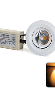 YouOkLight® 1PCS  8W Cree 1xCOB 500LM 3000K  Warm White LED Recessed Ceiling Light (AC 100-240V)