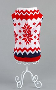 FUN OF PETS® Classic Red Christmas Snowflake Pattern Dogs Sweater for Pets Dogs Christmas Clothing (Assorted Sizes)