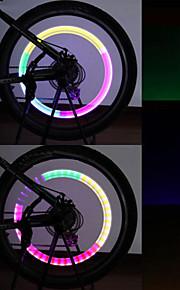 Bike Light , Valve Cap Flashing Lights / Safety Lights / Cap Lights 80 Lumens Waterproof AG10 x 100mAh Battery