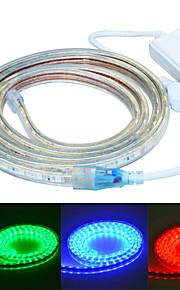 Jiawen 200cm vanntett 12w 120-5050smd 8-modusen RGB LED fleksibel lys stripe (AC110 ~ 220V)