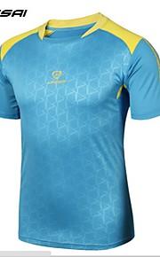 Lingsai Zomer Stijl Heren Running T-shirt Outdoor Sport Snel Droog Ademend Fitness Kleding Crossfit China Lucky Zeilen