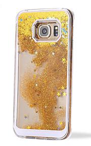 paillettes paillette liquide coloré sable sables mouvants de couverture de cas pour le bord Samsung Galaxy S3 / S4 / S5 / S6 / S6 bord /