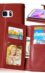 PU cuir flip couvercle 9 détenteurs de cartes étui portefeuille de luxe pour Samsung Galaxy Note 3 / note 4 / note 5 (couleurs assorties)