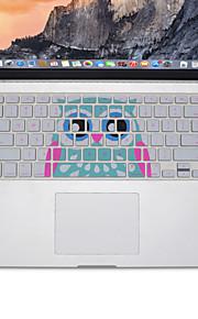 disegno del gufo pelle della copertura della tastiera del silicone per MacBook Air 13.3, MacBook Pro con retina 13 15 17 layout di noi
