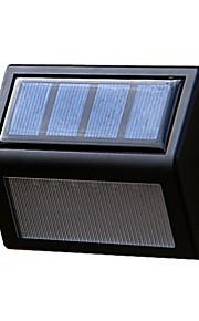 solenergi panel 6 leds veggen lobby pathway gjerde lys hjemme utendørs hage lampe trapp trinn verftet LED belysning