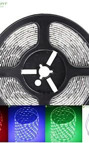 5m 75W 300x5050 SMD LED DC12V IP68 vanntett stripe lys + 44key fjernkontroll rgb
