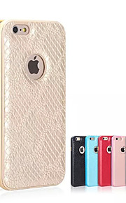 hzbyc®serpentine luksus skinn linjer ekte lær metall tpu integrert ramme sak for Apple iPhone 6plus / 6s pluss
