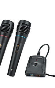5-in-1 Wired Karaoke Microphone Set for PS3 / PS2 / PC / Wii / Xbox 360 - Black (2 PCS)